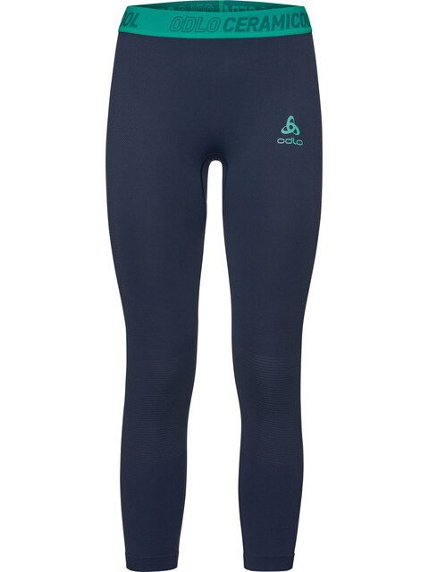 Odlo Ceramicool Motion 7/8 Bottom Women pool green-diving navy